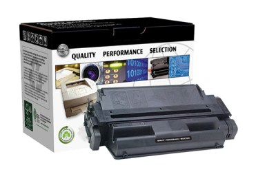 Compatible remanufactured standard-yield printer toner cartridge for HP LaserJet 5Si  5Si MX  5Si NX  5Si Mopier  8000 Series produces a 15 000 page-yield at 5% coverage.